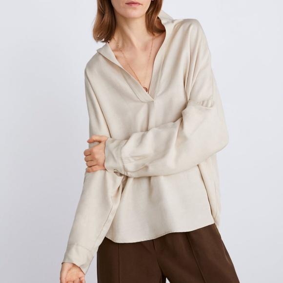 Oversized zara blouse NWT